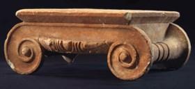 A GREEK MARBLE IONIC COLUMN CAPITAL