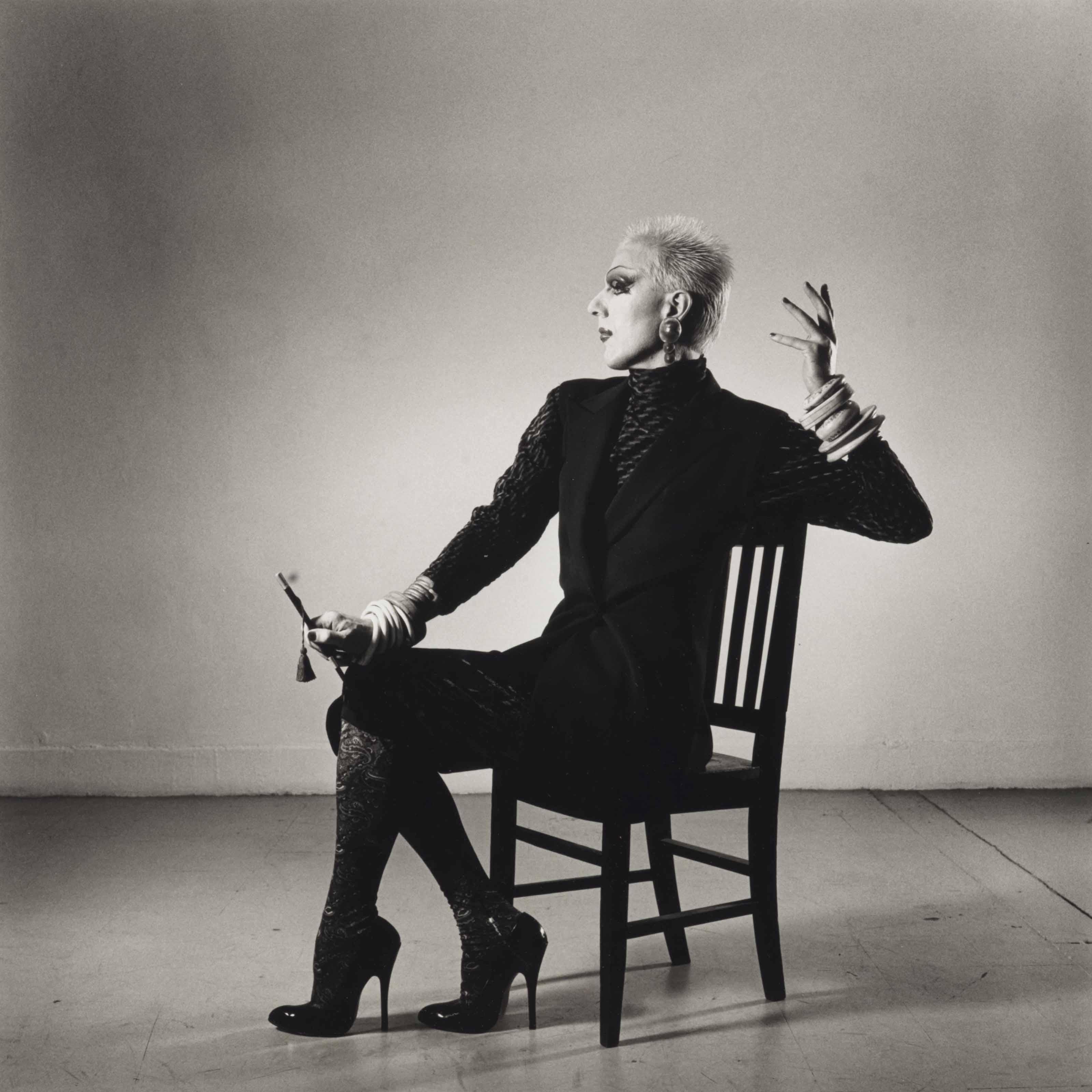 Ethyl Eichelberger in a Fashion Pose, 1981