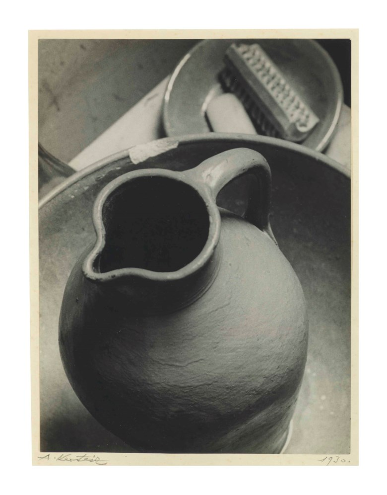 André Kertész (1894–1985), Pitcher, 1926. Mount 13¼ x 10½  in (33.6 x 26.6  cm). Estimate $100,000-150,000. This lot is offered in Visionaries Photographs from the Emily and Jerry Spiegel Collection on 10 October 2017  at Christie's in New York