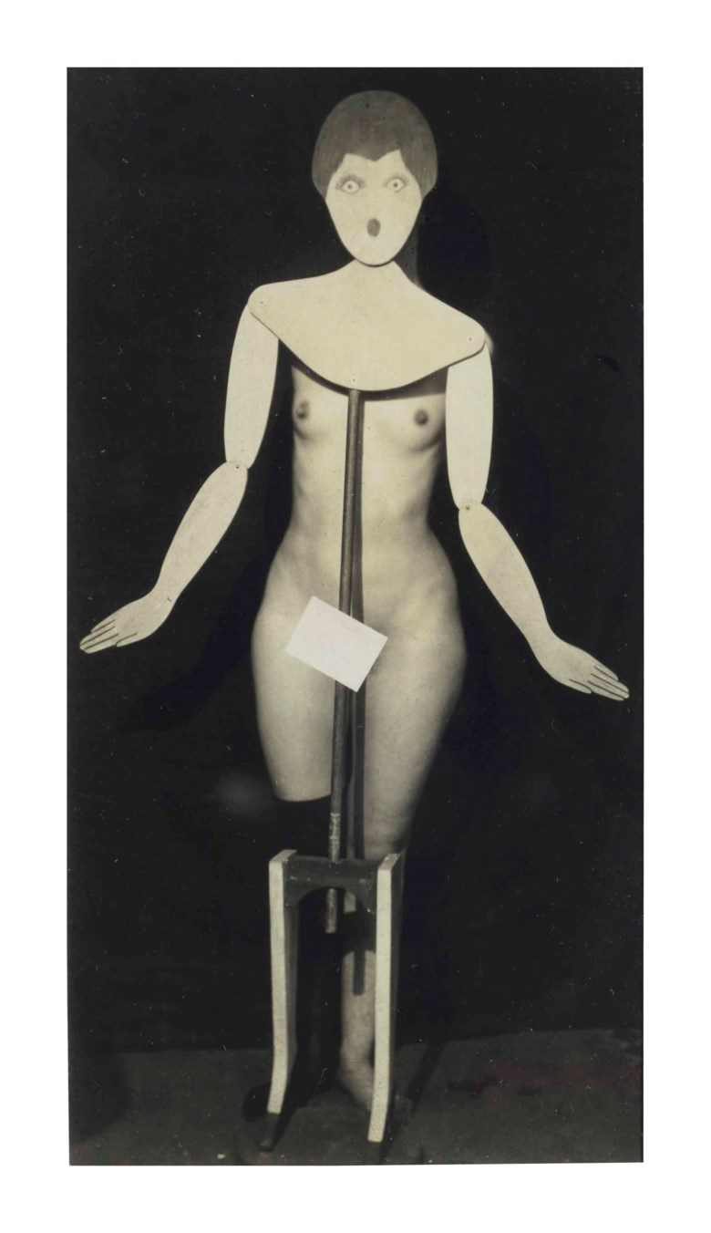 Man Ray (1890–1976), dadaphoto, 1920. Imagesheet 4¾ x 2½  in (12 x 6.3  cm). Estimate $100,000-150,000. This lot is offered in Visionaries Photographs from the Emily and Jerry Spiegel Collection on 10 October 2017  at Christie's in New York
