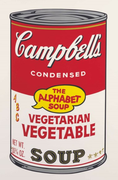 Andy Warhol (1928-1987), Vegetarian Vegetable, from Campbell's Soup II. Sheet 35 x 23  in (889 x 584  mm). Estimate $18,000-25,000. This lot is offered in Prints and Multiples on 24-25 October 2017  at Christie's in New York
