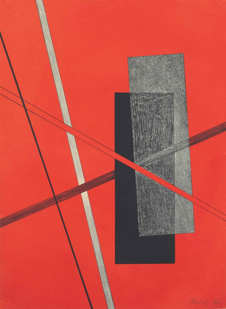 Laszlo Moholy-Nagy (1895-1946), Konstruktion IV, from Konstruktionen 6. Kestnermappe. Sheet 23⅝ x 17¼  in (600 x 438  mm). Estimate $12,000-18,000. This lot is offered in Prints and Multiples on 24-25 October 2017  at Christie's in New York
