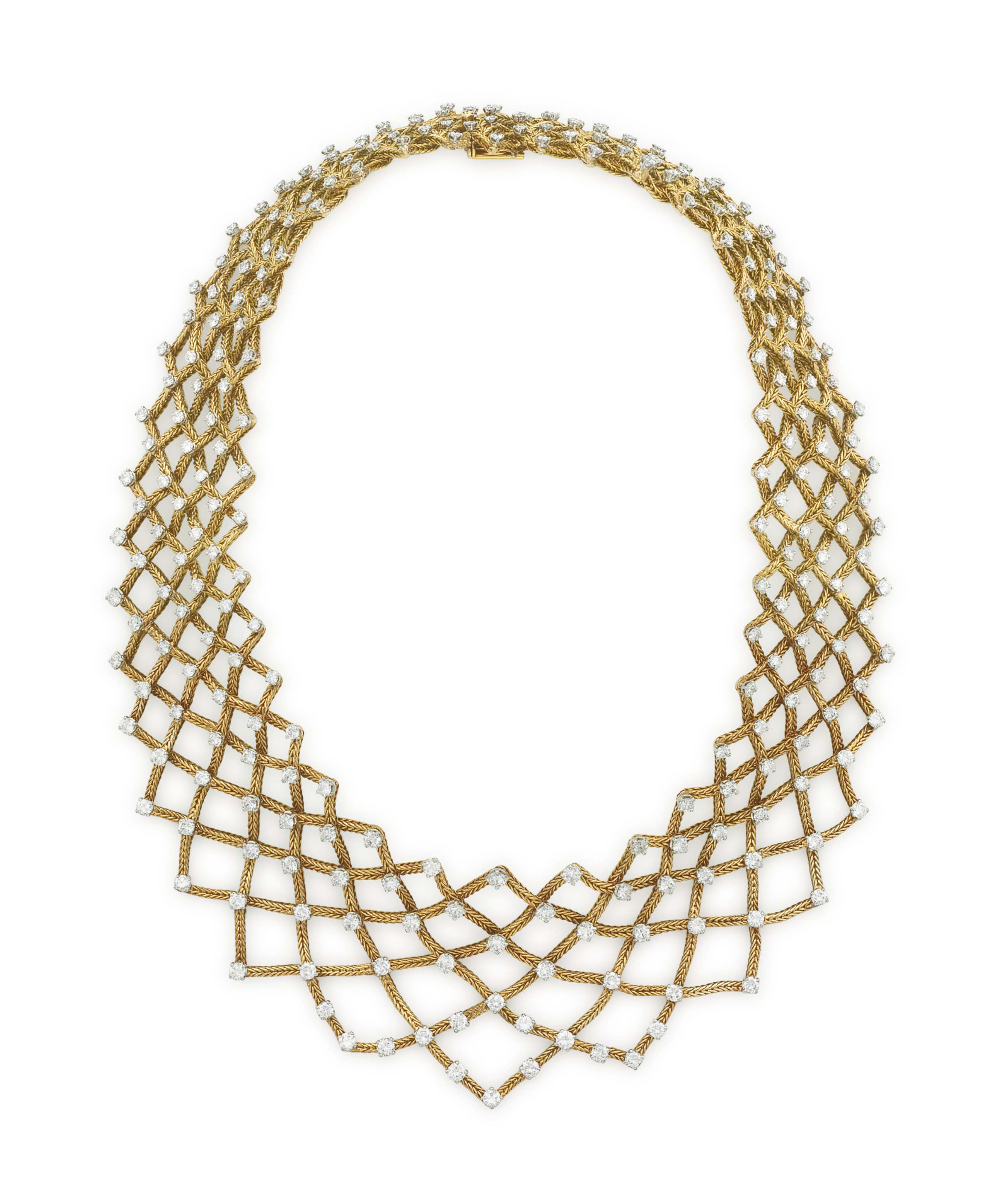 A DIAMOND AND GOLD NECKLACE, BY MARCHAK