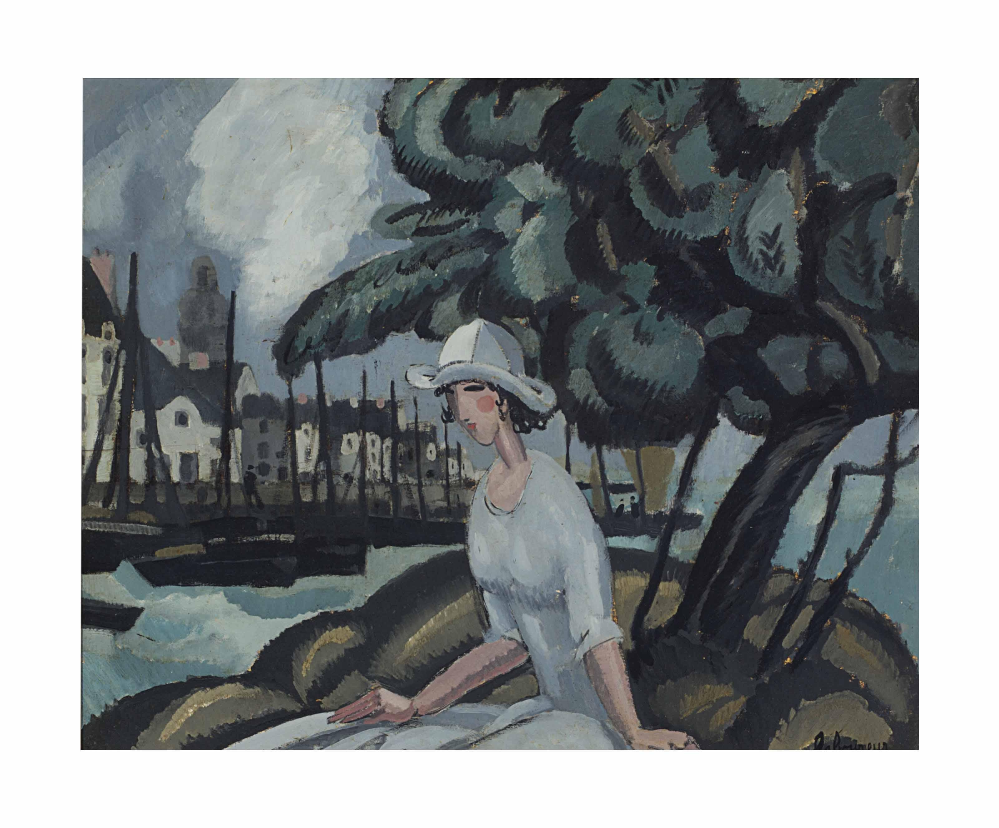 Femme dans le port
