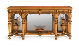 THE WILLIAM H VANDERBILT NEO-GREC PARCEL-GILT AND ROSEWOOD-I