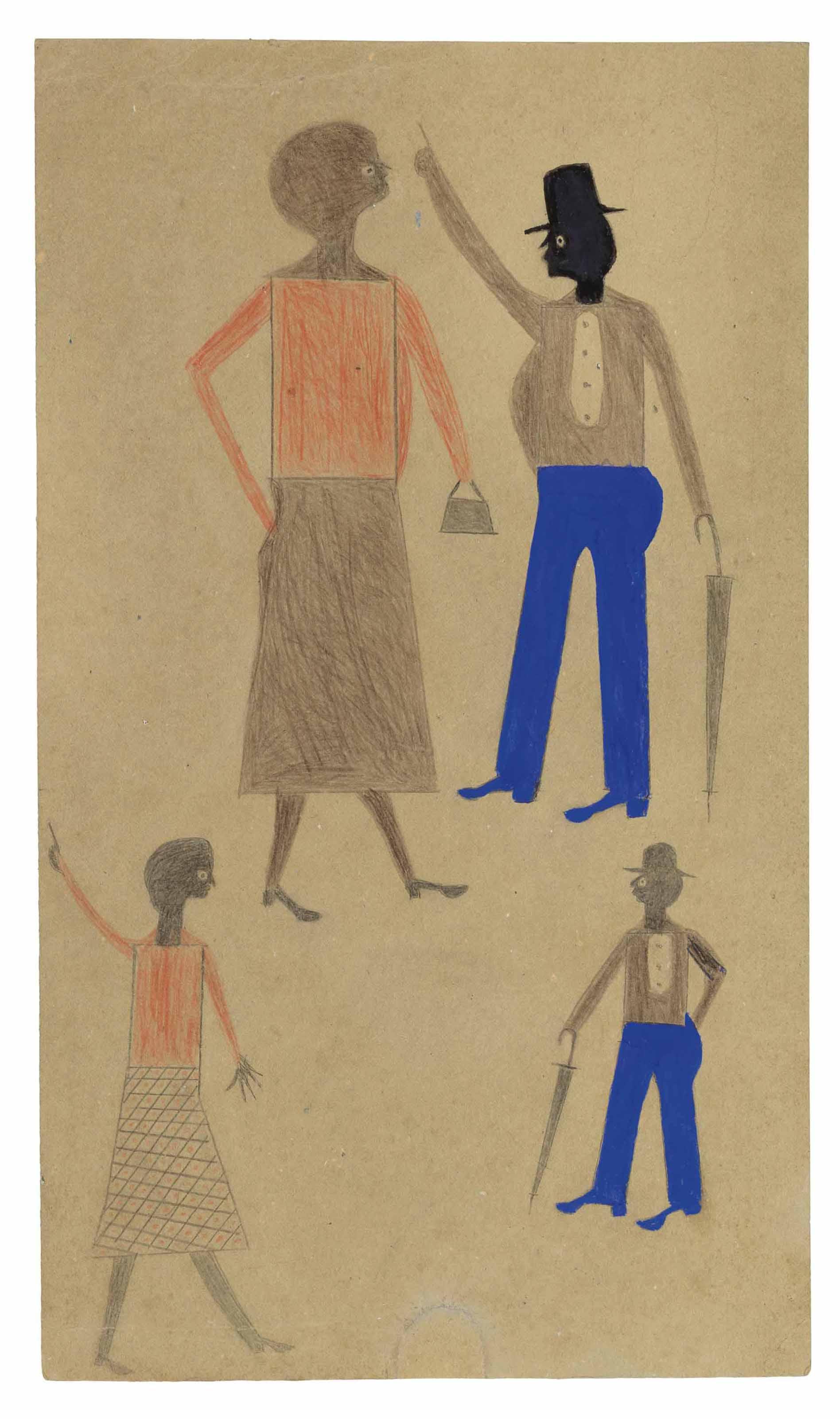 Two Women in Orange, Two Men in Blue, 1939-1942