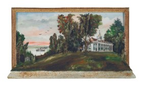 A POLYCHROME PAINT-DECORATED DIORAMA OF MOUNT VERNON