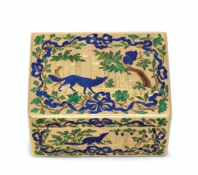 A GERMAN ENAMELLED GOLD SNUFF-BOX