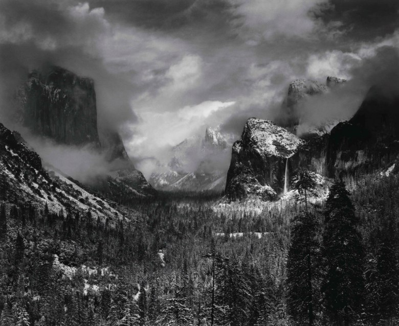 Ansel Adams (1902–1984), Clearing Winter Storm, Yosemite National Park, California, 1938. Mount 22 x 28  in (55.9 x 71.1  cm). This work was offered in Photographs Including Property from the Museum of Modern Art on 10 October 2017  at Christie's in New York