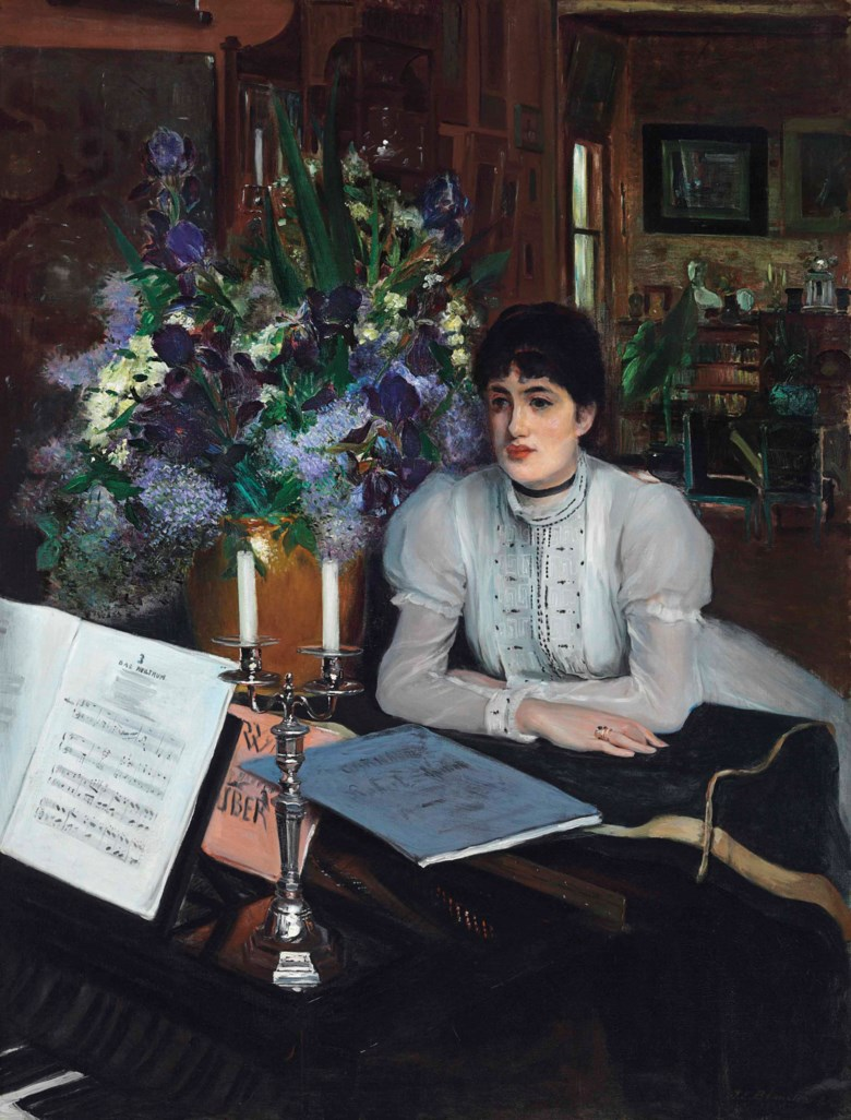Jacques-Émile Blanche (French 1861-1942), Henriette Chabot au piano. 57½ x 44¼  in (146.1 x 112.4  cm). Estimate $600,000-900,000. This lot is offered in 19th Century European Art on 31 October 2017  at Christie's in New York