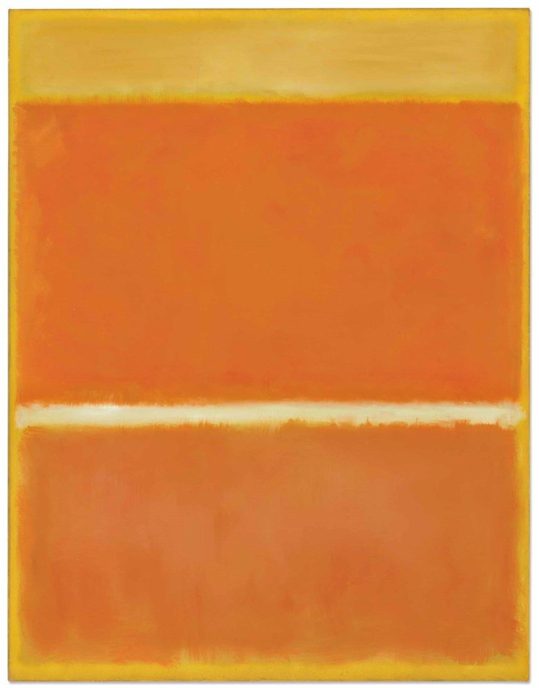 Mark Rothko (1903-1970), Saffron, 1957. 69½ x 53¾  in (175.6 x 136.5  cm). Estimate $25-35 million. This lot is offered in the Post-War & Contemporary Art Evening Sale on 15 November 2017  at Christie's in New York