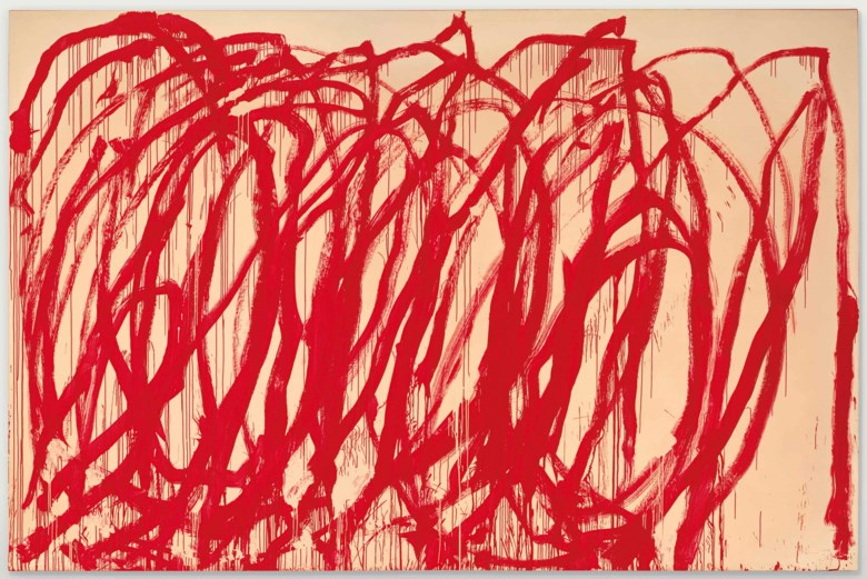 Cy Twombly (1928-2011), Untitled, 2005. 128 x 194½  in (325.1 x 494  cm). Estimate on request. This lot is offered in the Post-War & Contemporary Art Evening Sale on 15 November 2017  at Christie's in New York