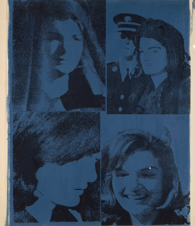 Andy Warhol (1928-1987), Jacqueline Kennedy III (Jackie III), executed circa 1966. This work is a unique unpublished trial proof. 40¼ x 35⅛  in (102.2 x 89.2  cm). Estimate $600,000-800,000. This lot is offered in the Post-War & Contemporary Art Morning Session on 16 November 2017  at Christie's in New York