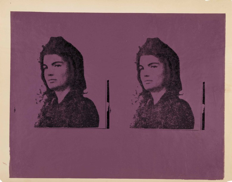 Andy Warhol (1928-1987), Jacqueline Kennedy II (Jackie II), executed circa 1966. This work is a unique unpublished trial proof. 35 x 45  in (88.9 x 114.3  cm). Estimate $150,000-250,000. This lot is offered in thePost-War & Contemporary Art Morning Session on 16 November 2017  at Christie's in New York