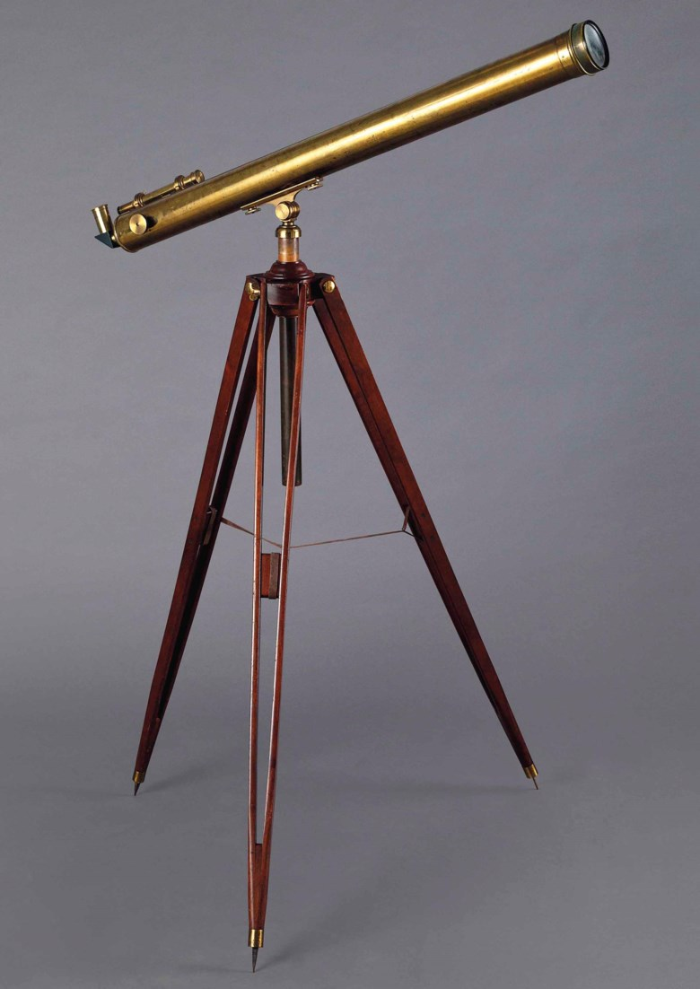 Albert Einstein's telescope. Manufactured by the Paul Dörffel company, Berlin, late 19th century. Estimate $200,000-300,000. This lot is offered in Fine Printed Books and Manuscripts Including Americana on 5 December 2017  at Christie's in New York