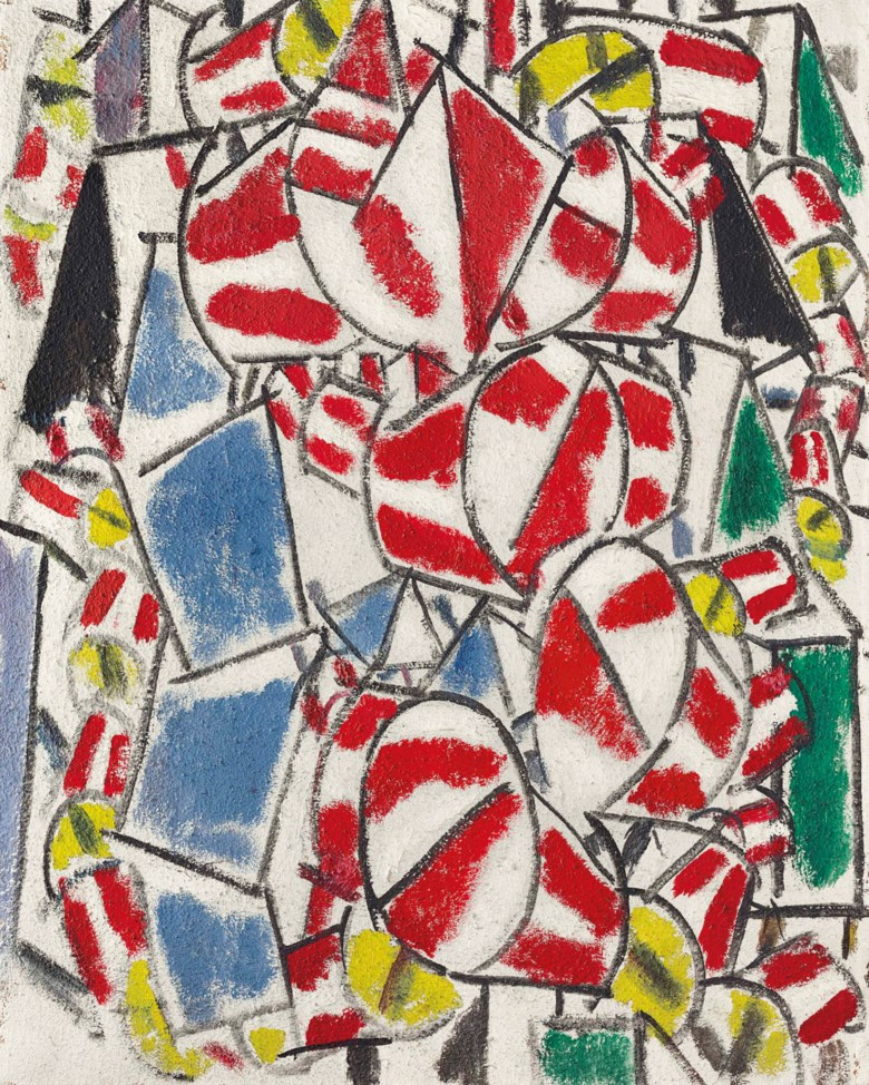 Fernand Léger (1881-1955), Contraste de formes, 1913. 36⅜ x 28⅞  in (92.4 x 73.2  cm). Sold for $70,062,500 in the Impressionist & Modern Art Evening Sale on 13 November 2017  at Christie's in New York