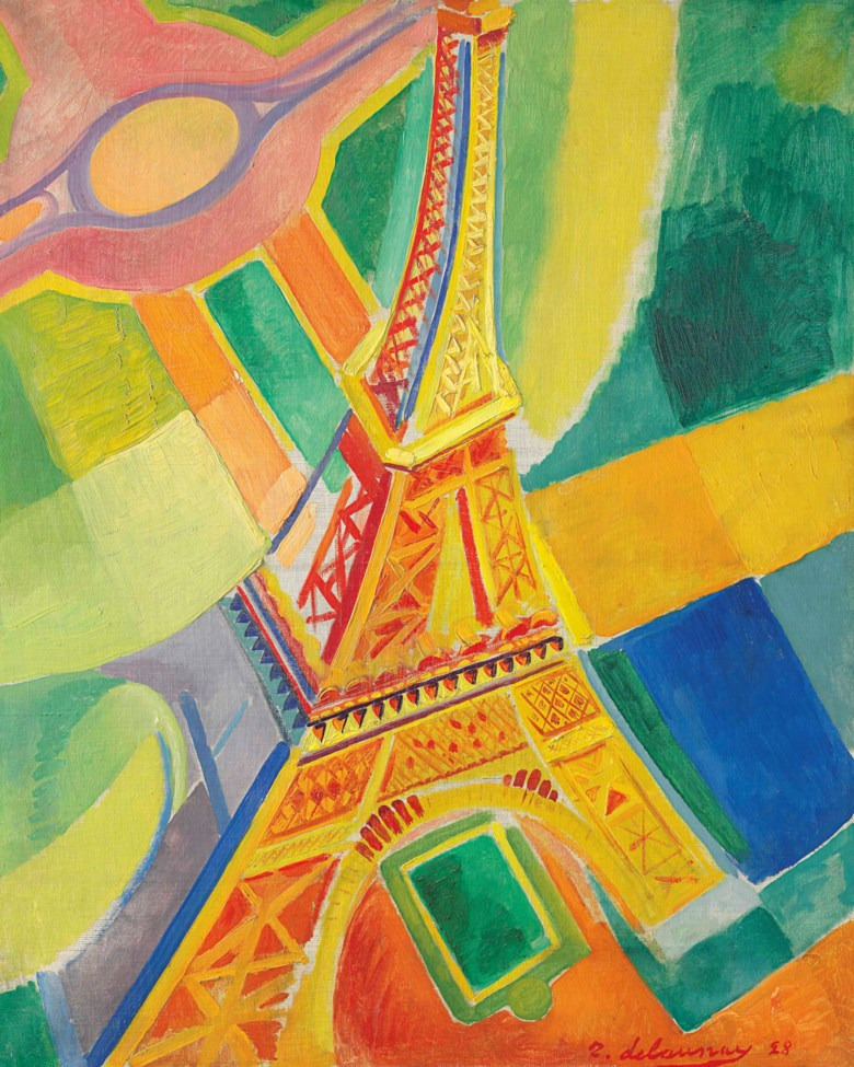 Robert Delaunay (1885-1941), La Tour Eiffel, painted in Paris in 1928. 31⅞ x 25⅝  in (81.2 x 65.1  cm). Estimate $2,500,000-3,500,000. This lot is offered in the Impressionist & Modern Art Evening Sale on 13 November 2017  at Christie's in New York