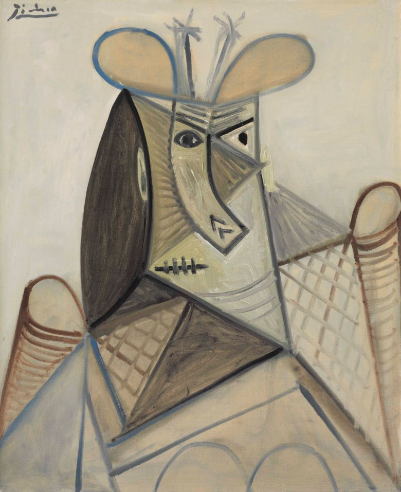 Pablo Picasso (1881-1973), Buste de femme au chapeau (Dora Maar), painted on 28 may 1943. 28⅞ x 23⅝  in (73.3 x 59.9  cm). Estimate $4,000,000-6,000,000. This lot is offered in Impressionist & Modern Art Evening Sale on 13 November 2017  at Christie's in New York © 2017 Estate of Pablo Picasso  Artists Rights Society (ARS), New York