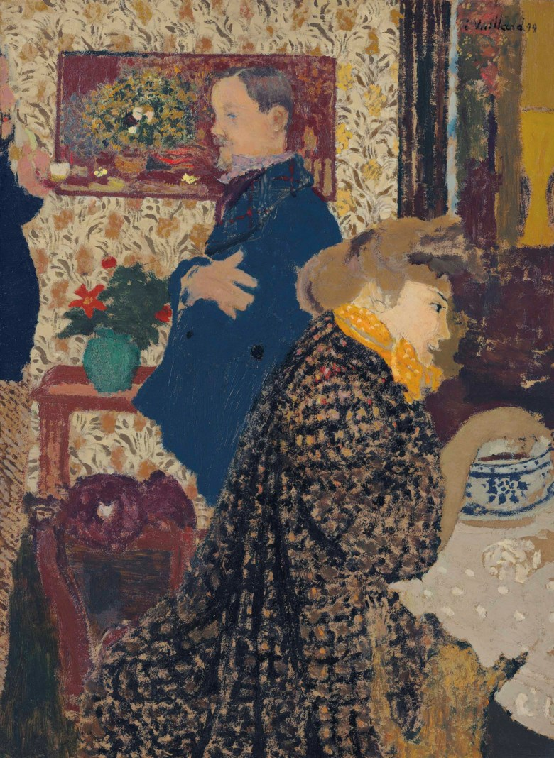 Edouard Vuillard (1868-1940), Misia et Vallotton à Villeneuve, 1899. 27⅝ x 20⅛  in (70.2 x 51.1  cm). Sold for $17,750,000 on 13 November 2017  at Christie's in New York