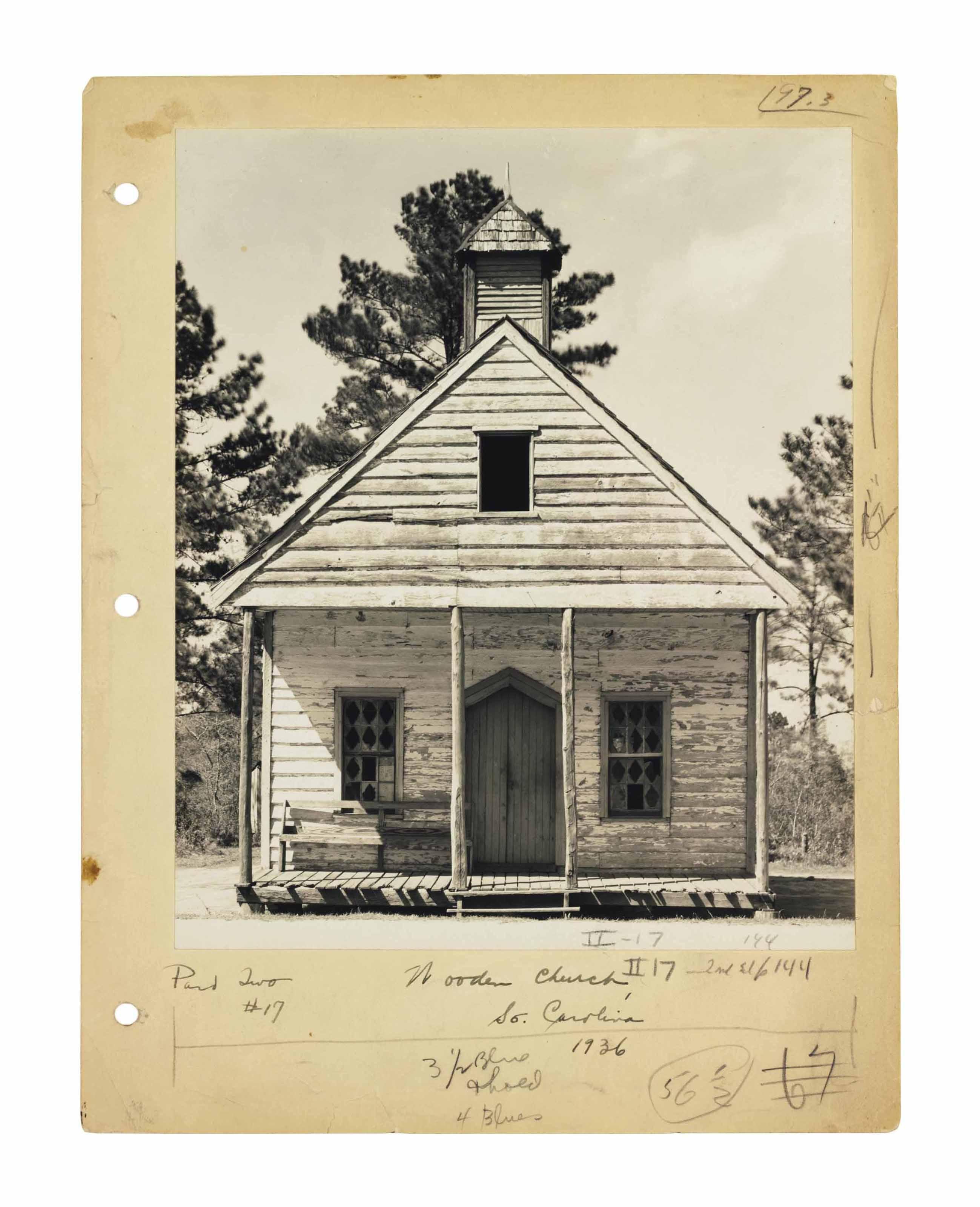 Wooden Church, South Carolina, 1936