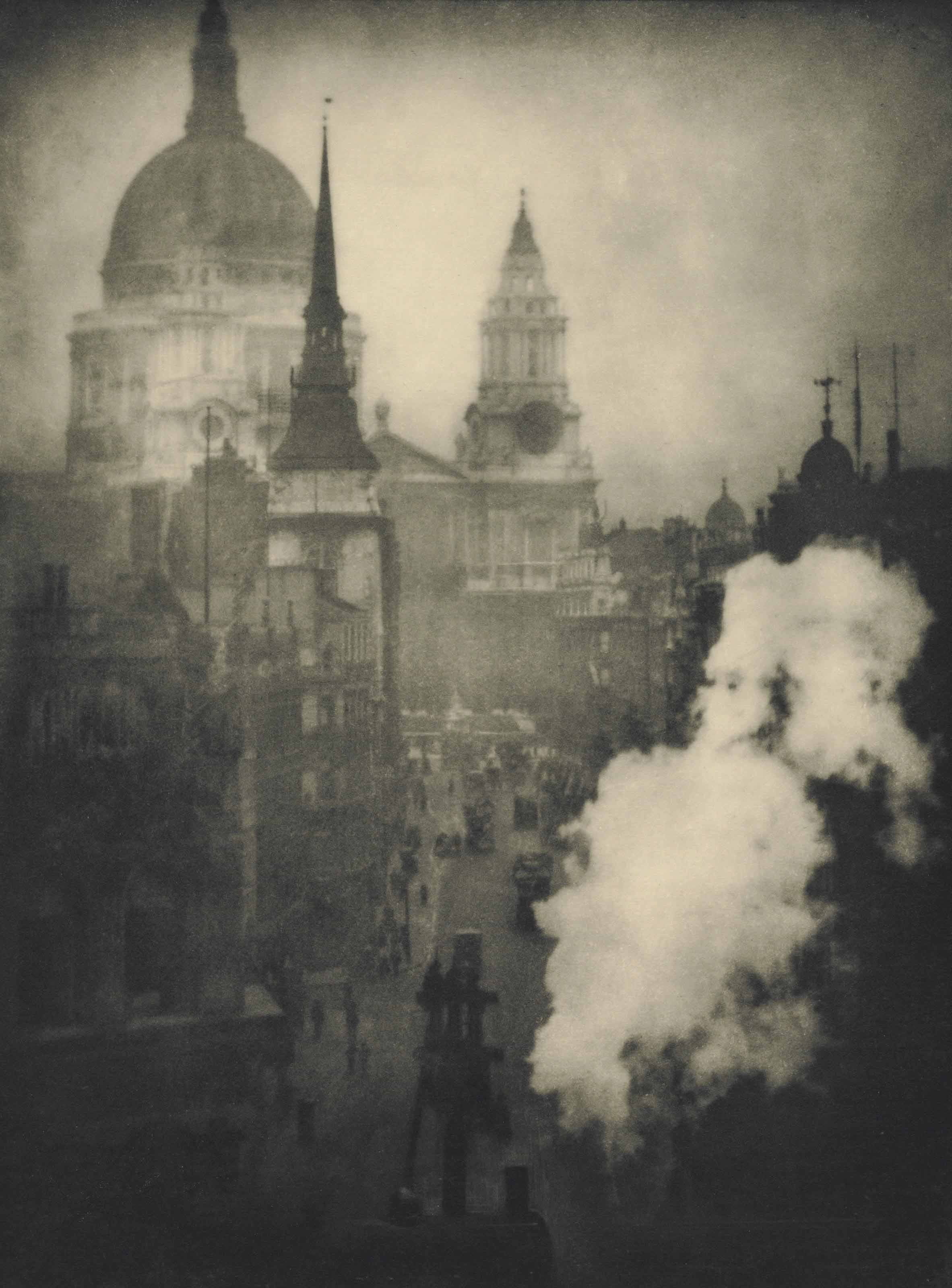 St. Paul's Cathedral from Ludgate Circus, London, 1905