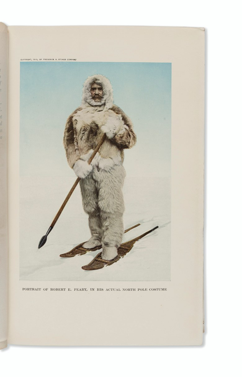 Robert E. Peary (1856-1920), The North Pole Its Discovery in 1909 under the Auspices of the Peary Arctic Club, 1910. Estimate $600-900. This lot is offered in Russian America & Polar Exploration Highlights from the Martin Greene Library on 7 December 2017  at Christie's in New York