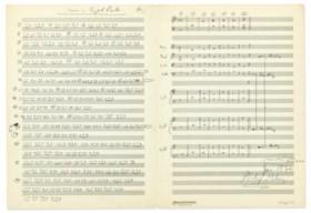 GLASS, Phillip (b 1937) Autograph music manuscript signed (