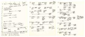CUNNINGHAM, Merce (1919-2009) Autograph manuscript, np, [196