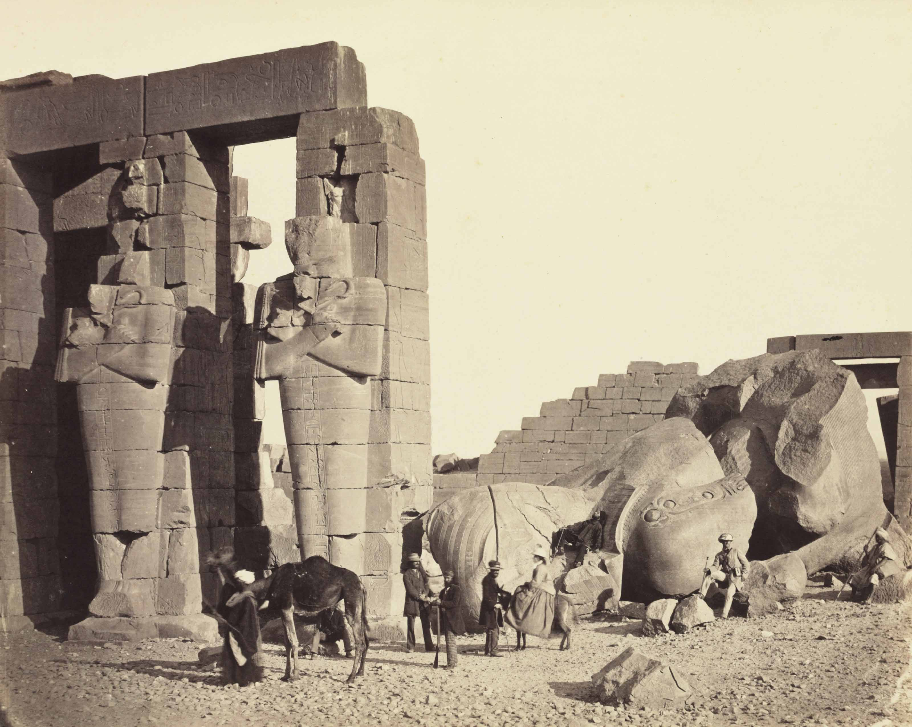 The Rameseum of El-Kurneh, Thebes-First View, 1857–1858