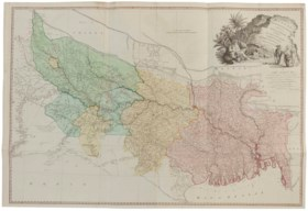 RENNELL, James (1742-1830) A Map of Bengal, Bahar, Oude, All