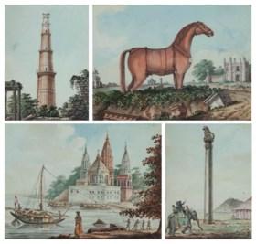 INDIA-- WARHAM, Thomas Manuscript diary and sketchbook, Vari