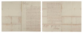 CLIVE, Robert (1725-1774) Autograph letter signed (