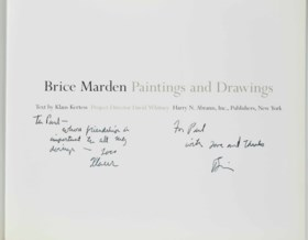 BRICE MARDEN — A group of four signed books, comprising: