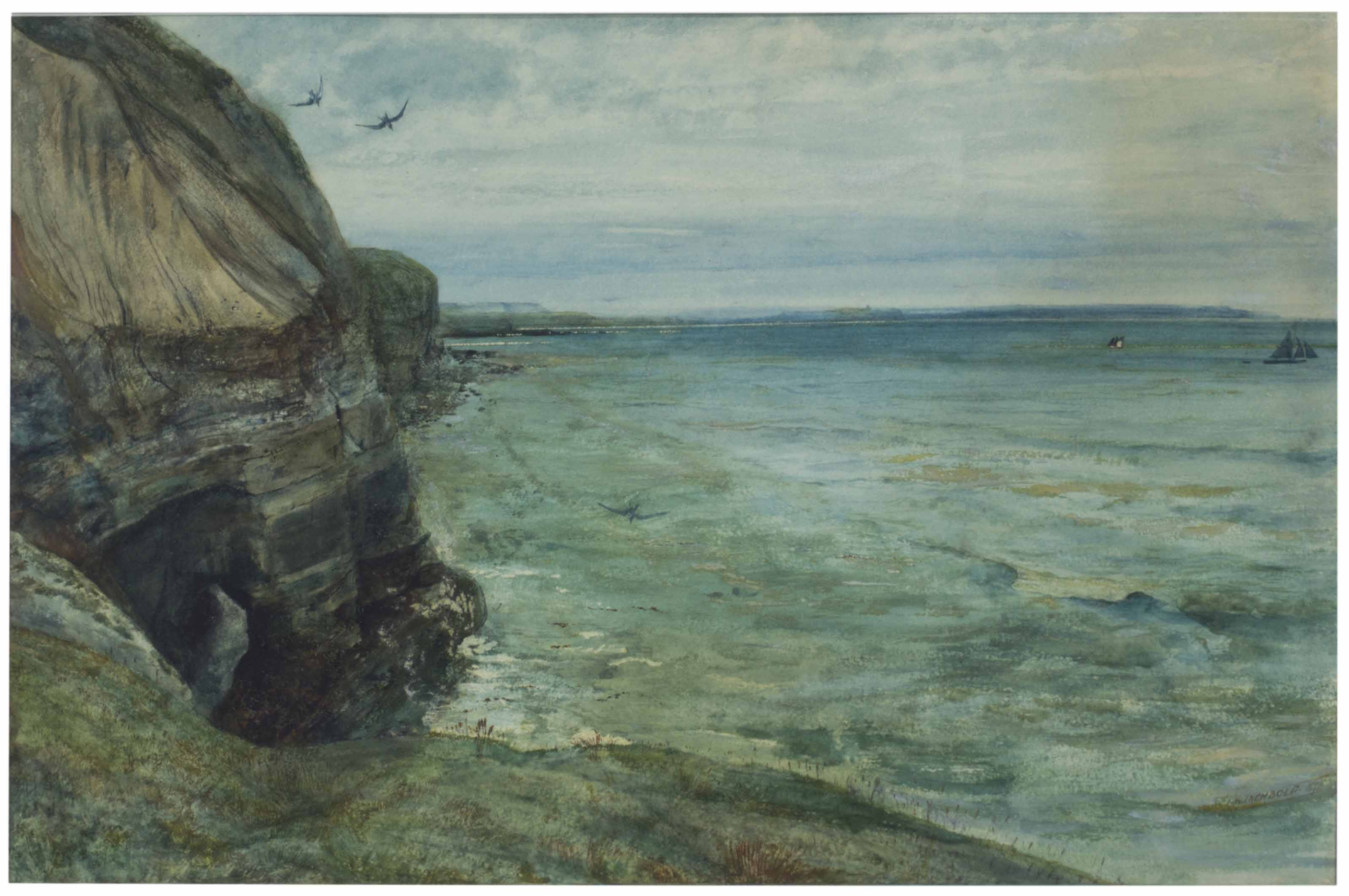 Cliffs and Sea, Filey, Yorkshire