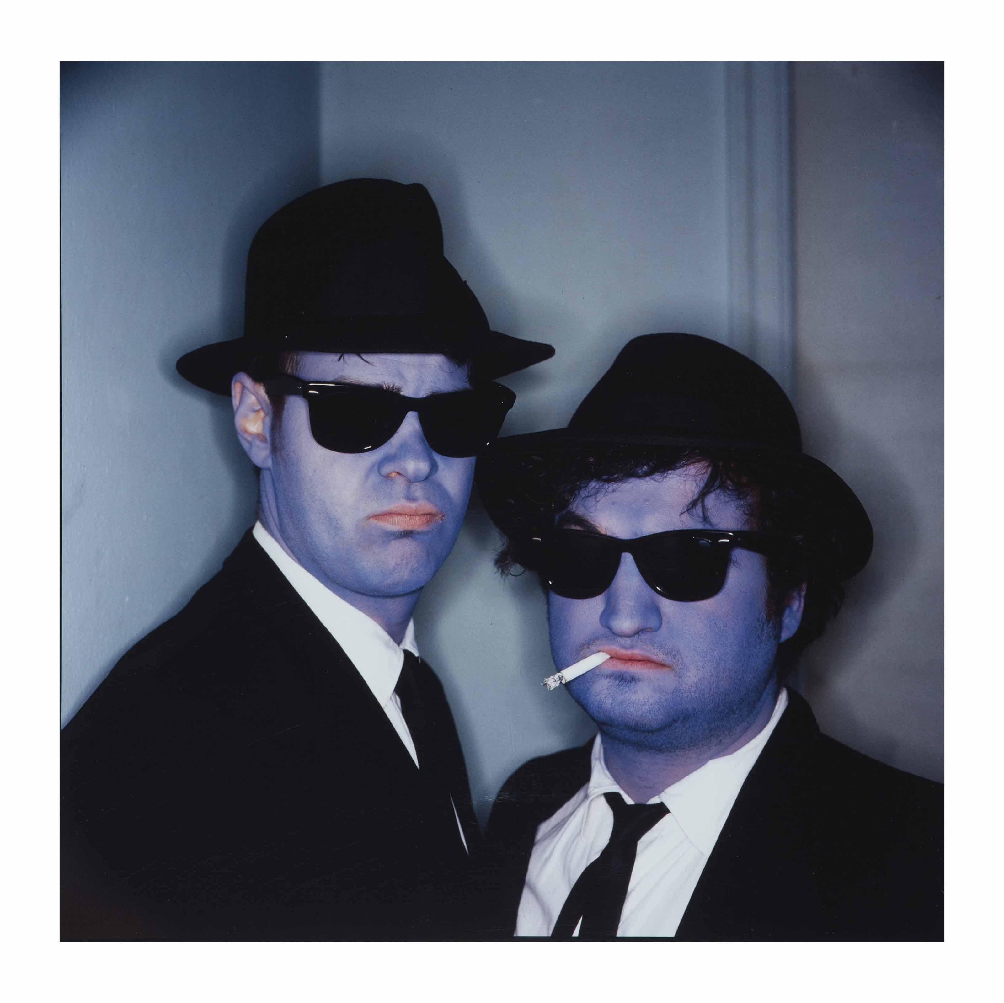 Dan Aykroyd and John Belushi (Blues Brothers), Hollywood, California, 1979
