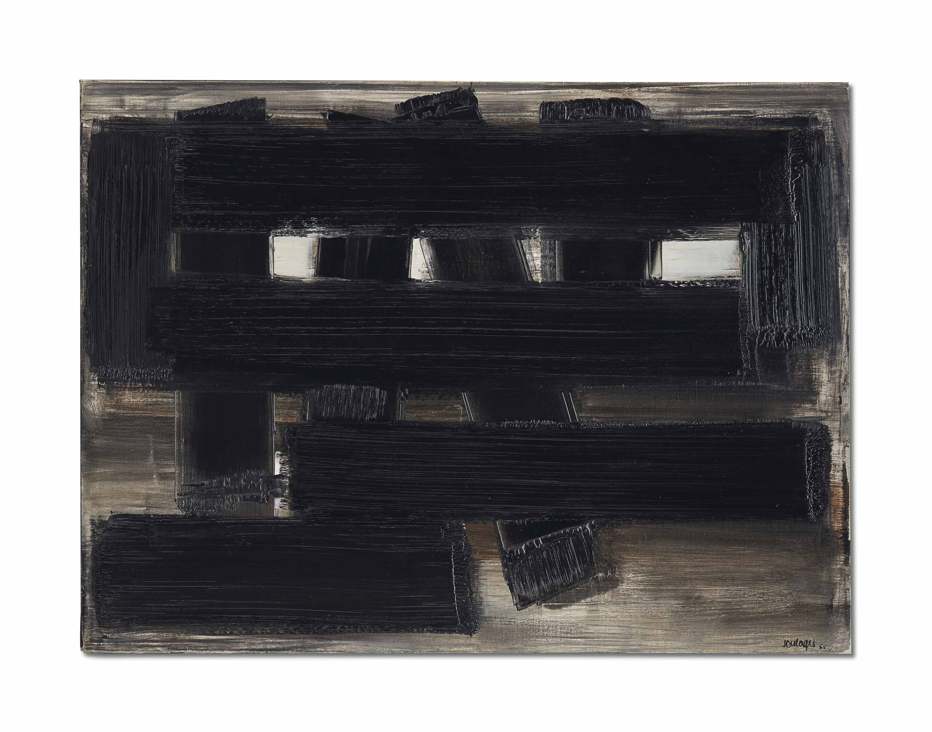 Peinture 60 x 81 cm, 3 novembre 1955