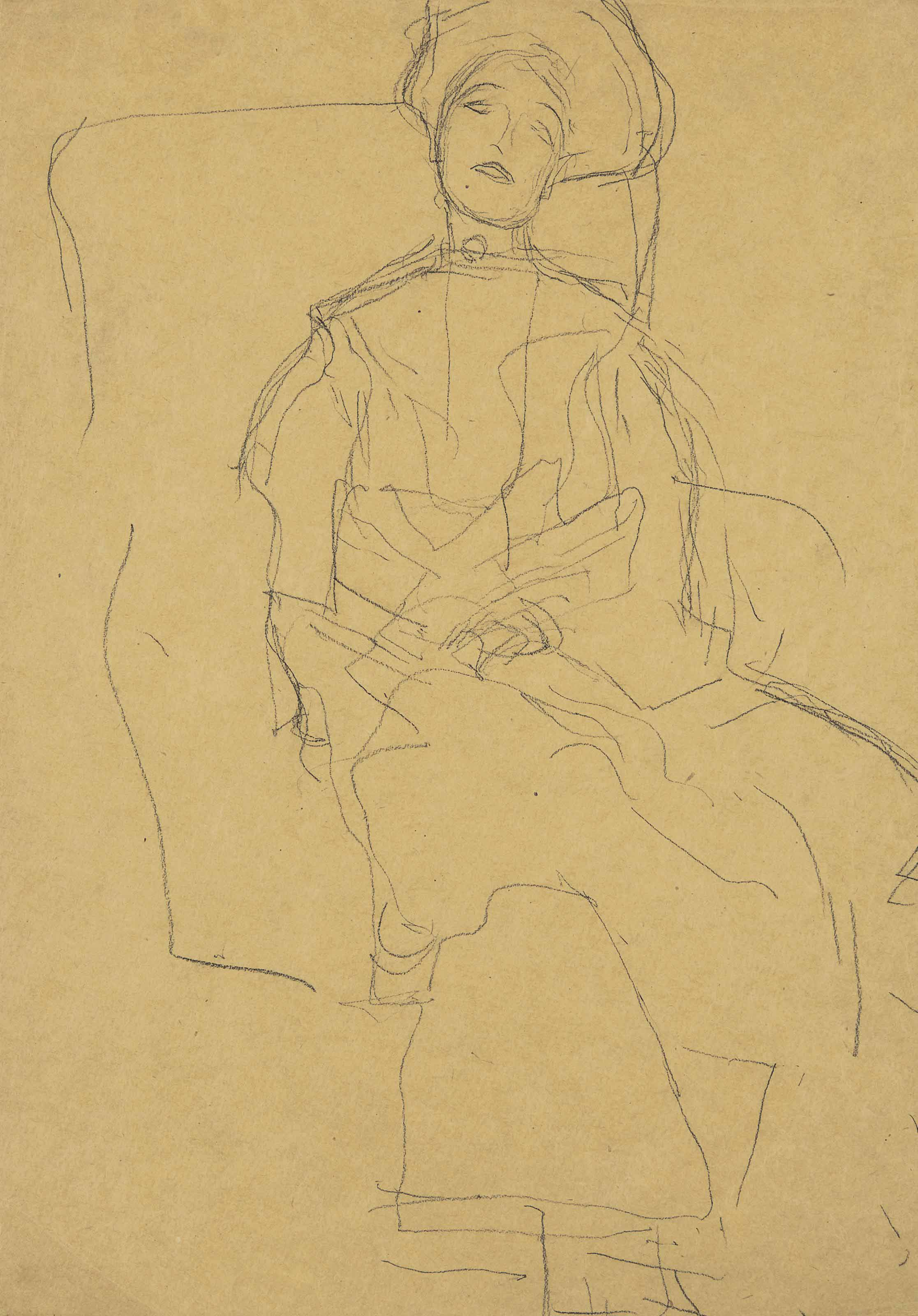 """Étude pour """"Portrait d'Adèle Bloch-Bauer"""""""