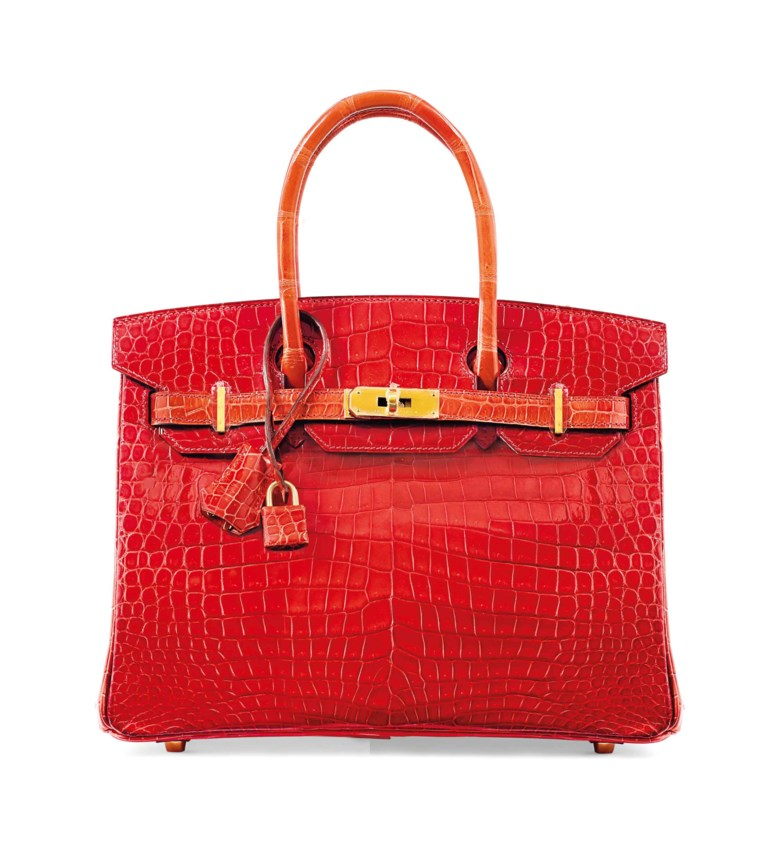 Birkin 30 in Géranium, Hermès, 2015. 30 x 22 x 15  cm. Estimate €40,000-45,000. This lot is offered in Sacs & Accessoires on 12 December 2017  at Christie's in Paris