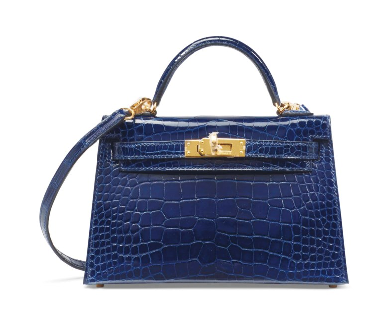 Mini Kelly 20 in Bleu Saphir, Hermès, 2016. 20 x 12 x 6 cm. Estimate €20,000-30,000. This lot is offered in Sacs & Accessoires on 12 December 2017  at Christie's in Paris