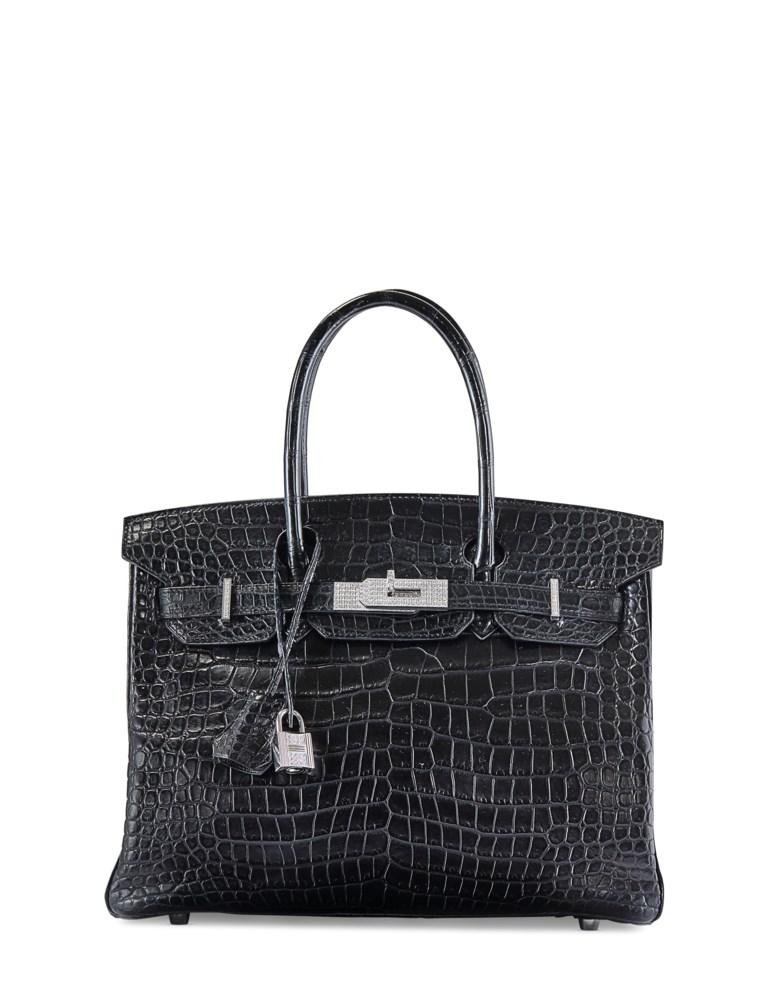 Diamond Birkin 30 in Mat Noir, Hermès, 2007. 30 x 22 x 15  cm. Estimate €70,000-90,000. This lot is offered in Sacs & Accessoires on 12 December 2017  at Christie's in Paris