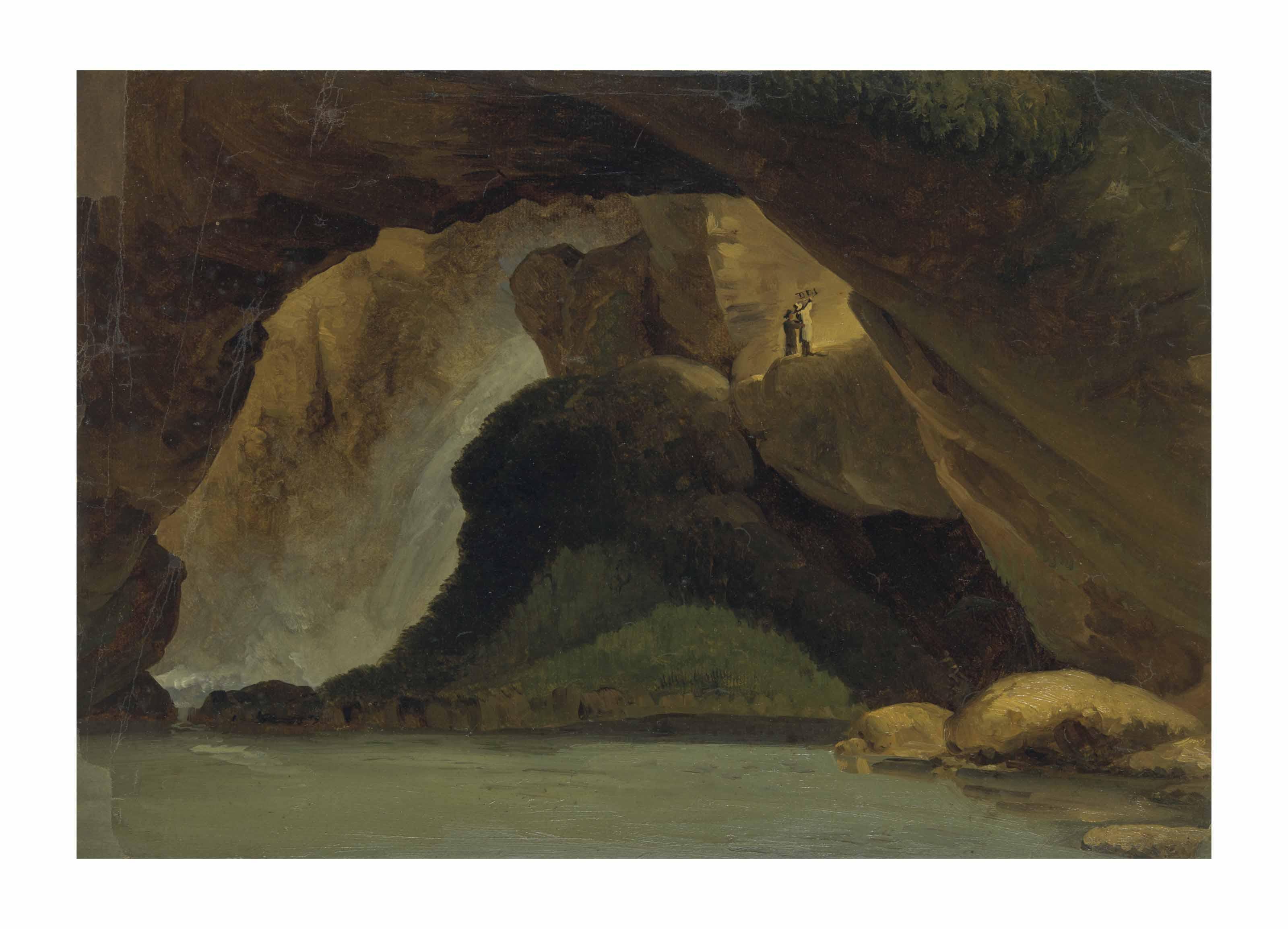 Vue de l'intérieur de la Grotte de Neptune à Tivoli