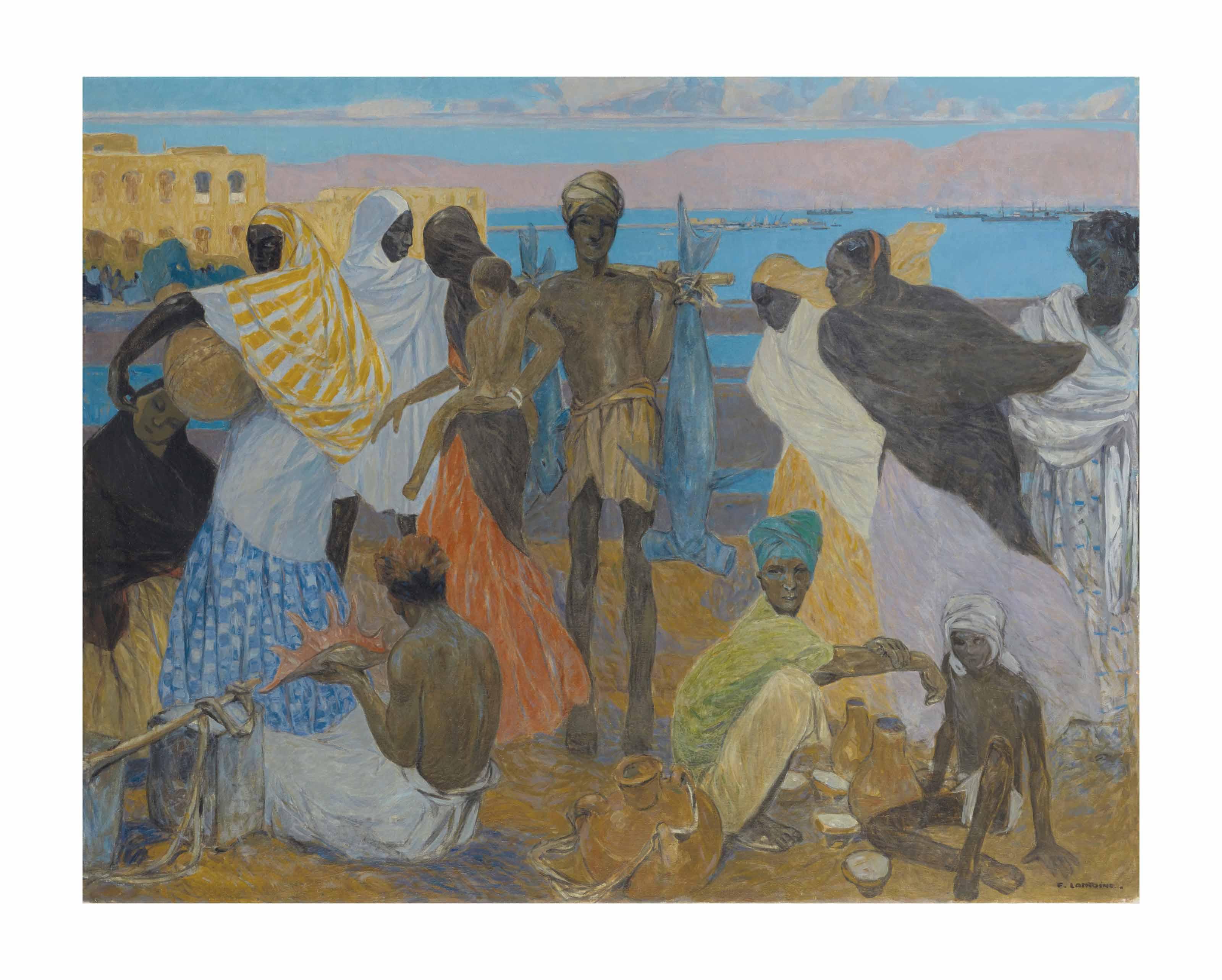 Le marché aux poissons à Djibouti
