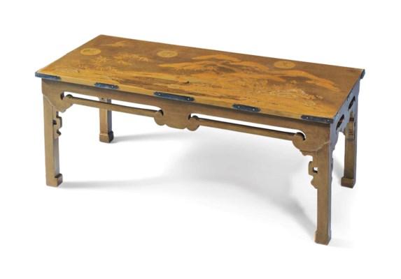 table basse en laque japon xix e siecle christie 39 s. Black Bedroom Furniture Sets. Home Design Ideas