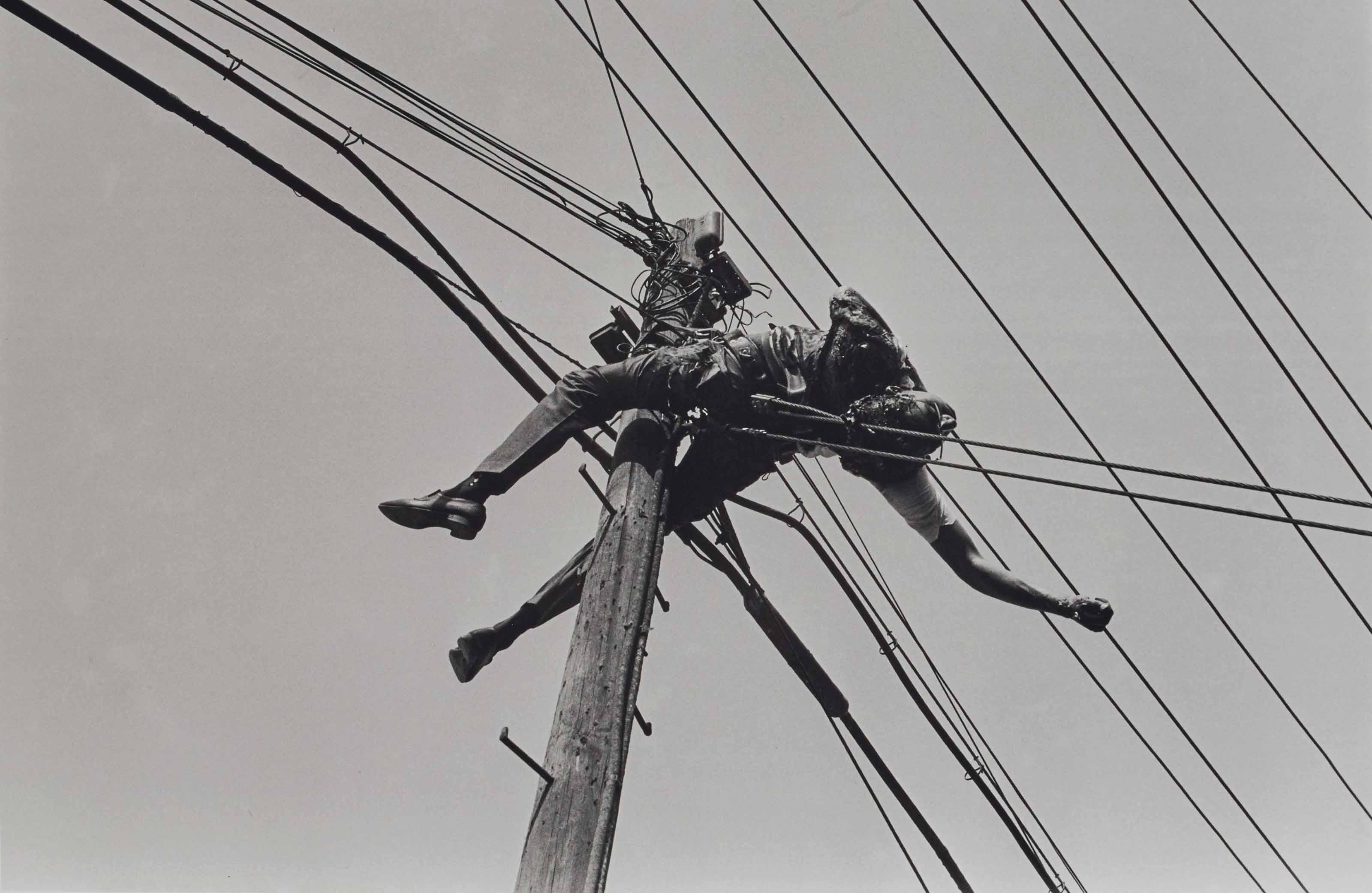Untitled (Empleado de Telefonos de Mexico Electrocutado en el km 13 de la Carretera Mexico-Toluca), 1958