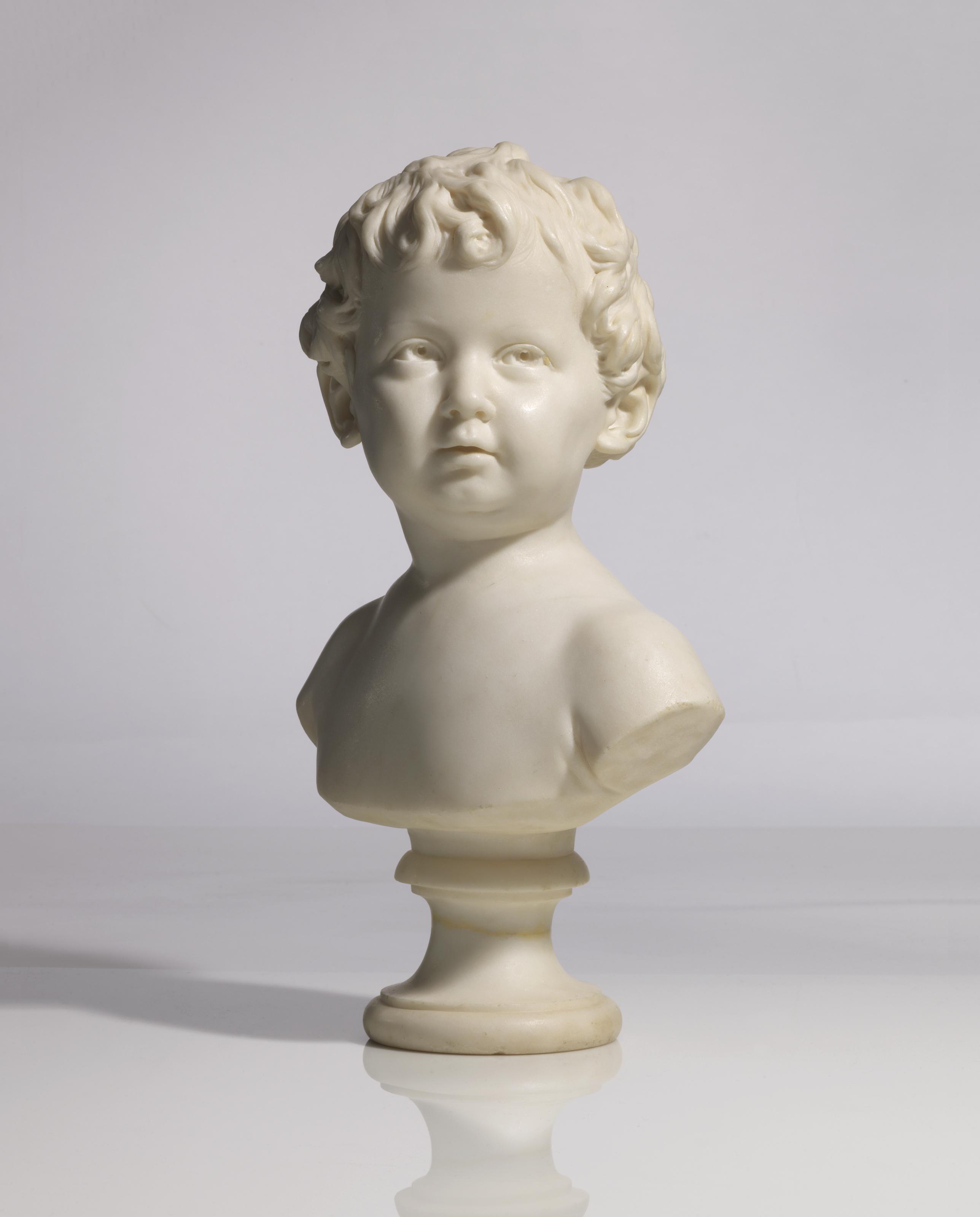 BUSTE EN MARBRE REPRESENTANT ANNE-ANGE HOUDON (1788-1843) A L'AGE DE 15 MOIS