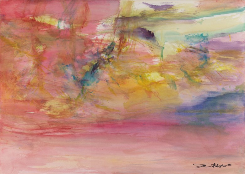 Zao Wou-Ki (FranceChina, 1920-2013), Untitled, 2008. 71 x 99.5  cm (28 x 39⅛  in). Estimate CNY 400,000-600,000. This lot is offered in First Open  Shanghai on 24 September 2017  at Christie's in Shanghai