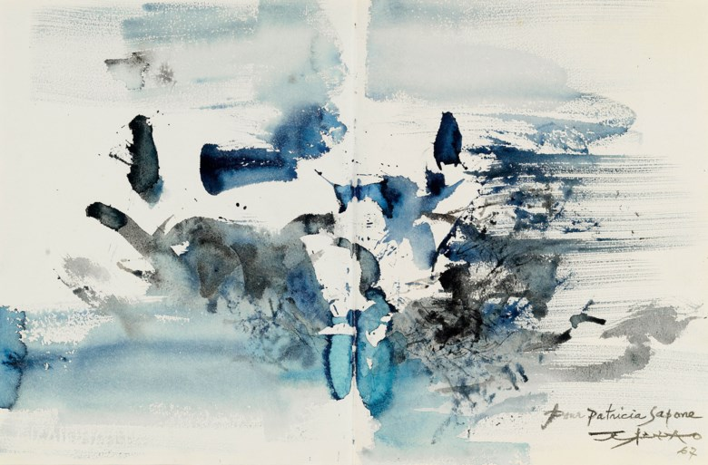 Zao Wou-Ki (FranceChina, 1920-2013), Untitled, 1967. 34.5 x 52  cm (13⅝ x 20½  in). Estimate CNY 350,000-650,000. This lot is offered in First Open  Shanghai on 24 September 2017  at Christie's in Shanghai
