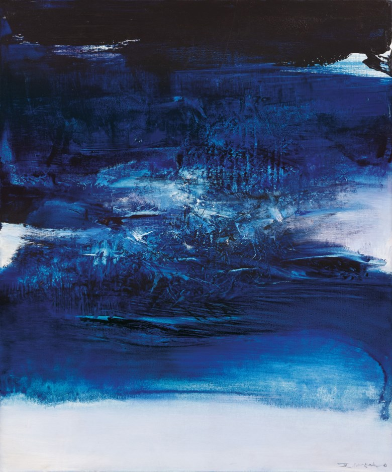 Zao Wou-Ki (FranceChina, 1920-2013), 10.8.67, 1967. 65 x 54  cm (25⅝ x 21¼  in). Estimate CNY 7,800,000-9,800,000. This lot is offered in 20th Century & Contemporary Art (Evening Sale) on 24 September 2017  at Christie's in Shanghai