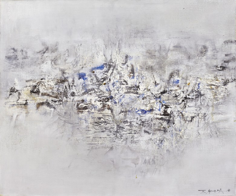 Zao Wou-Ki (FranceChina, 1920-2013), 24.06.59, 1959. 46 x 55.5  cm (18⅛ x 21⅞  in). Estimate CNY 6,500,000-7,500,000. This lot is offered in 20th Century & Contemporary Art (Evening Sale) on 24 September 2017  at Christie's in Shanghai