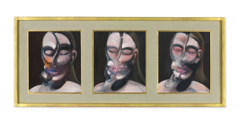 Francis Bacon (1909-1992), Three Studies for a Portrait, 1976. Each 14 x 12 in (35.5 x 30.5 cm). Estimate £10,000,000-15,000,000. This lot is offered in the Post-War and Contemporary Art Evening Auction on 6 March 2018  at Christie's in London